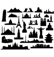 sights of the world vector image