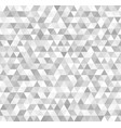 silver triangle pattern seamless metallic vector image vector image