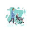 social medical worker with old woman in a vector image vector image