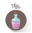 spa beauty and health bottle aromatherapy oil vector image vector image