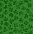 St Patricks day seamless pattern with clover vector image vector image