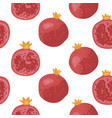 summer pattern with pomegranates flowers and vector image vector image