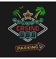symbol neon casino vector image