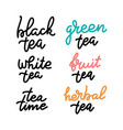 tea time set for prints and posters menu design vector image vector image