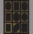 vintage frames collection golden borders isolated vector image vector image