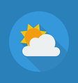 Weather Flat Icon Partly Cloudy vector image