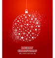 Merry Christmas and Happy New Year stars bauble vector image