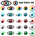 Set of eyes icons and symbols vector image