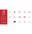 15 painting icons vector image vector image