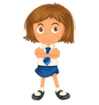 a girl in school uniform vector image vector image