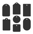 a set labels various shapes silhouette of vector image vector image