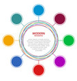 abstract business circle infographic vector image vector image