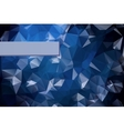 Abstract triangular blue background with polygonal vector image