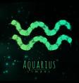abstract zodiac sign aquarius on a dark vector image