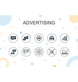 advertising trendy infographic template thin line