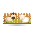 animals farm design vector image vector image