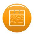 calendar abstract icon orange vector image vector image