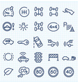 Car interface thin line icons set vector image vector image