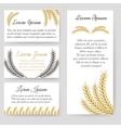 Cards and flyer template harvest design vector image