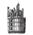 chateau of chambord one of the most recognizable vector image vector image