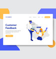 customer feedback concept vector image