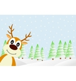 Deer in the winter forest vector image vector image