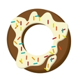 Donut with cream and sprinkles icon