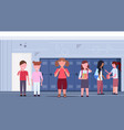 fat obese schoolgirl being bullied other pupils vector image