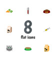 flat icon pets set of root vegetable fish vector image
