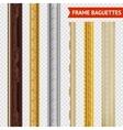 Frame Baguette Set vector image