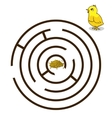 Game labyrinth find a way chicken baby vector image vector image