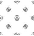 genius brain pattern seamless vector image vector image