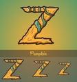 Halloween decorative alphabet - Z letter vector image vector image