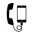 handset for the mobile phone vector image vector image
