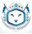 heraldic coat of arms vintage emblem vector image vector image