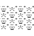hipster pattern seamless background vector image vector image