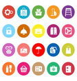 Home storage flat icons on white background vector image vector image