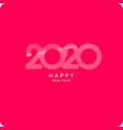 inscription happy new year 2020 vector image