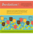 Invitation card with colorful flowers vector image vector image