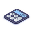 isometric flat calculator icon simple computing vector image vector image