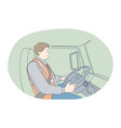 job career working as driver in purlin transport vector image vector image