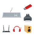 laptop and device icon vector image vector image