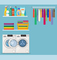 laundry room service vector image vector image