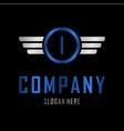 letter i automotive creative business logo vector image vector image
