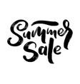 lettering in heart - summer sale marketing header vector image