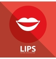lips button vector image vector image