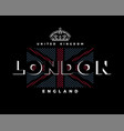 london united kingdom t-shirt printing design on vector image vector image