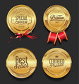 luxury golden badges collection vector image vector image