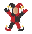Medieval joker cartoon icon vector image