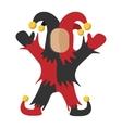 Medieval joker cartoon icon vector image
